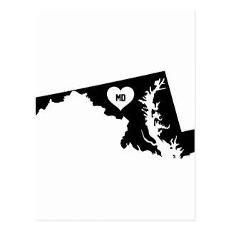 Maryland Love Postcard