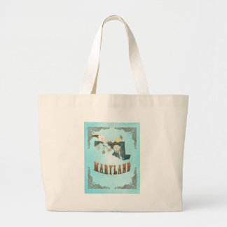 Maryland Map With Lovely Birds Bags