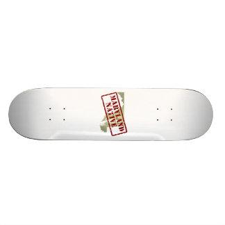 Maryland Native Stamped on Map Skateboards
