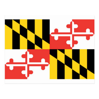 Maryland  Official State Flag Postcard