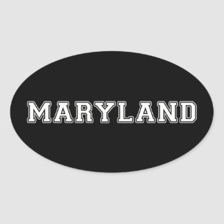 Maryland Oval Sticker