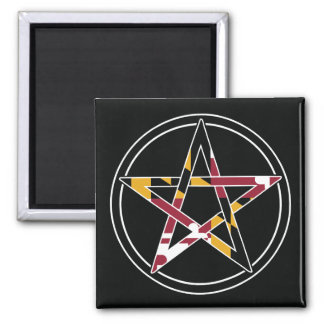 Maryland Pagan transparent Square Magnet