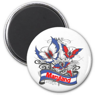 Maryland Patriotism Butterfly Magnet