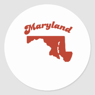 MARYLAND Red State Stickers