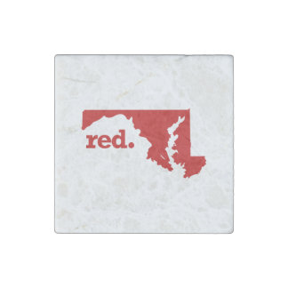 MARYLAND RED STATE STONE MAGNET