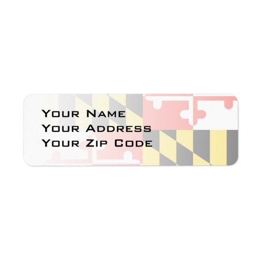 MARYLAND RETURN ADDRESS LABEL
