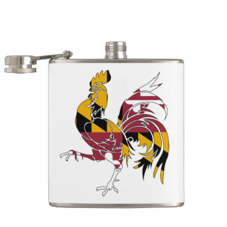 Maryland Rooster Hip Flask