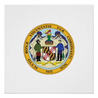 Maryland seal, American state seal Poster