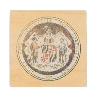 Maryland Seal Wood Coaster