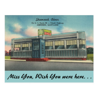 Maryland, Shamrock Diner Postcard
