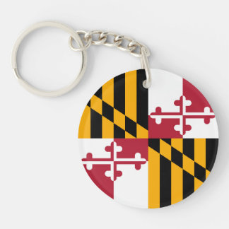 Maryland State Flag Colors Graphic Key Ring