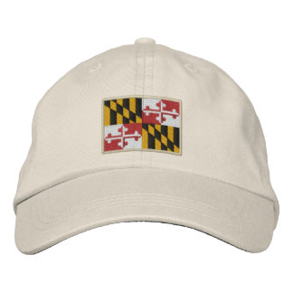 Maryland State Flag Design Embroidered Hat