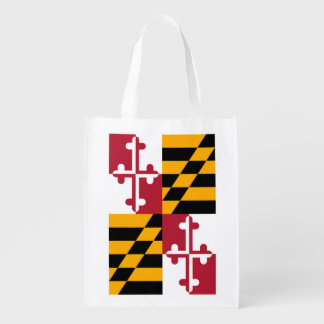 Maryland State Flag Design Reusable Grocery Bag