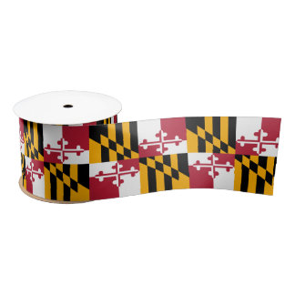 Maryland State Flag Festive Design Satin Ribbon