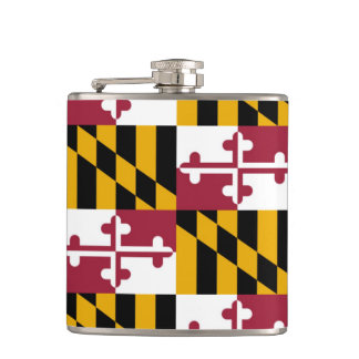 Maryland State Flag Hip Flask
