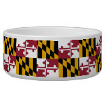 Maryland State Flag Pet Bowl