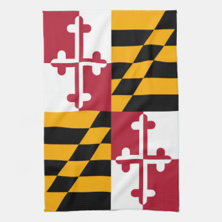 Maryland State Flag Style Decor Tea Towel