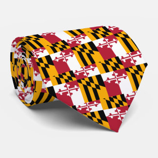 Maryland State Flag Stylish Decor Tie