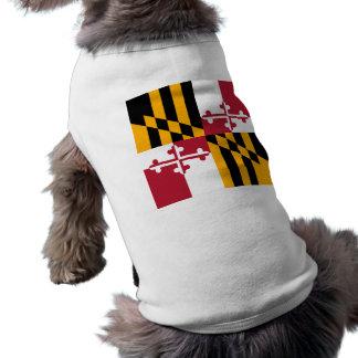 Maryland State Flag Stylish Sleeveless Dog Shirt