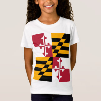 Maryland State Flag Stylish T-Shirt
