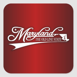 Maryland State of Mine Square Sticker