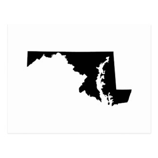 Maryland State Outline Postcard
