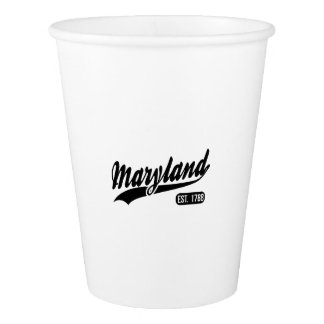 Maryland State Paper Cup