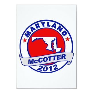 "Maryland Thad McCotter 5"" X 7"" Invitation Card"