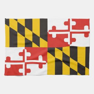 maryland usa state flag towel
