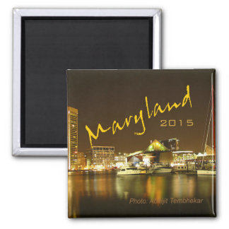 Maryland USA State Souvenir Magnet Change Year