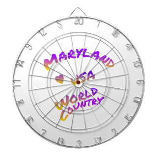Maryland usa world country, colorful text art dartboard