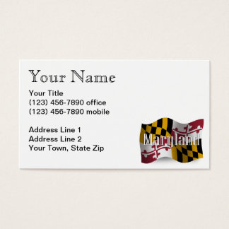 Maryland Waving Flag Business Card