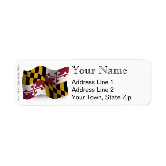 Maryland Waving Flag Return Address Label