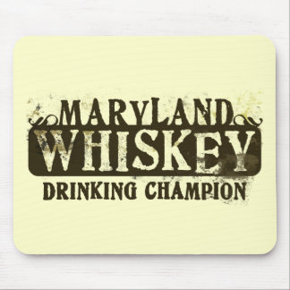 Maryland Whiskey Drinking Champion Mouse Mat