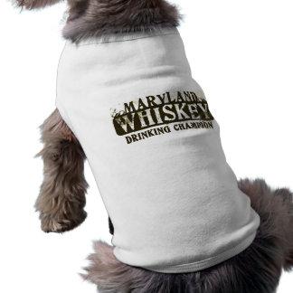 Maryland Whiskey Drinking Champion Sleeveless Dog Shirt