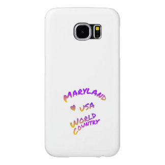 Maryland world country, colorful text art samsung galaxy s6 cases