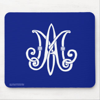 Mary's Monogram Mousepad