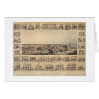 Marysville, California Panoramic Map (2505A) Greeting Card