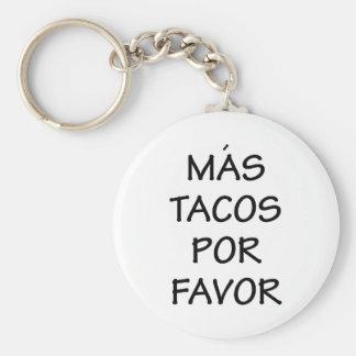 Mas Tacos Por Favor Key Ring