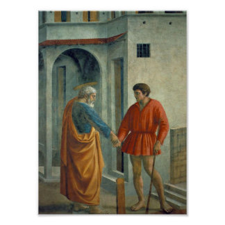 Masaccio - Peter paid the tax collector Print