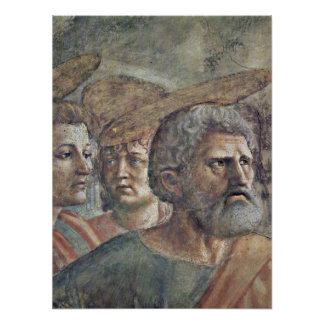 Masaccio - The Tribute Money detail: Peter Posters