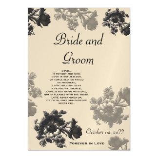 Masala Flora Wedding Magnetic Card