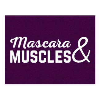Mascara & Muscles Gym Quote Postcard