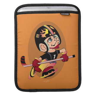 MASCOTTE HOCKEY CARTOON  iPad HORIZONTAL iPad Sleeve