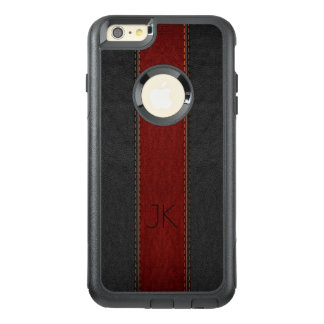 Masculine Black & Red Vintage Leather OtterBox iPhone 6/6s Plus Case