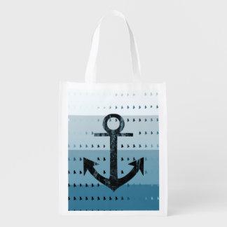 Masculine Blue Anchor Nautical Pattern Design