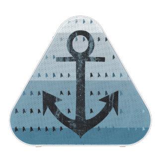 Masculine Blue Anchor Nautical Pattern Design Bluetooth Speaker
