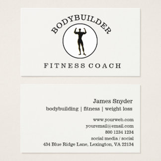 Masculine Bodybuilder Fitness Athlete Sports Business Card