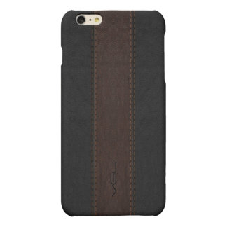 Masculine Brown & Black Stitched Leather Texture