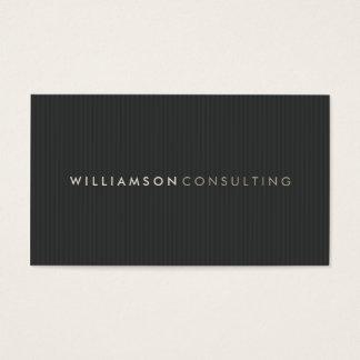 MASCULINE BUSINESS CARD :: simple pinstripe 1